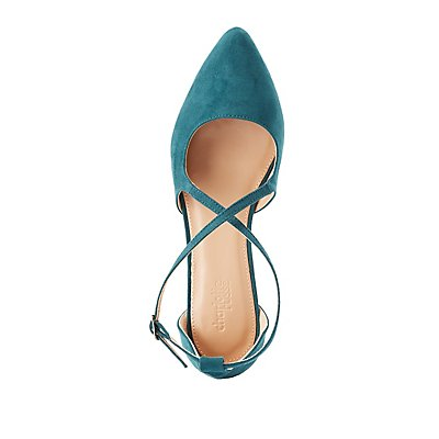 Crisscross Two-Piece Pointed Toe Flats
