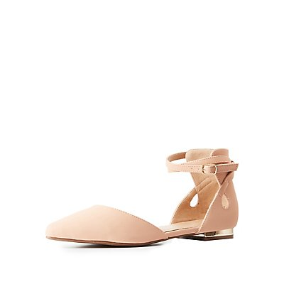 Buckled Two-Piece Pointed Toe Flats