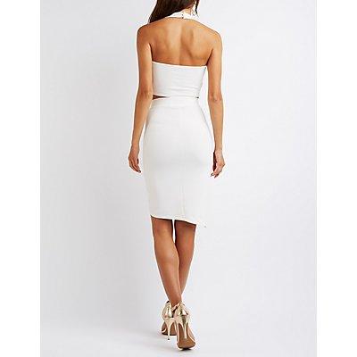 Cut-Out Crop Top & Skirt Hook-Up