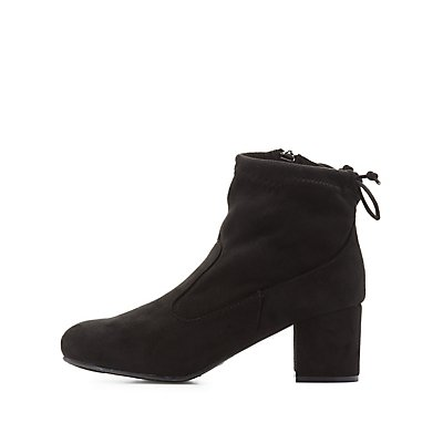 Bamboo Tie-Back Ankle Booties