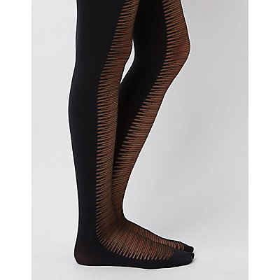 Distressed Detail Tights