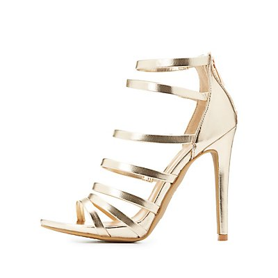 Strappy Metallic Dress Sandals