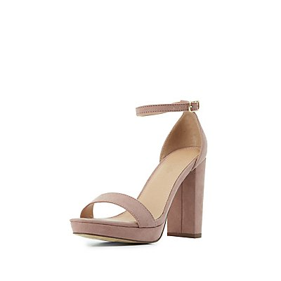 Chunky Two-Piece Dress Sandals