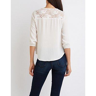 Lace-Back Blouse