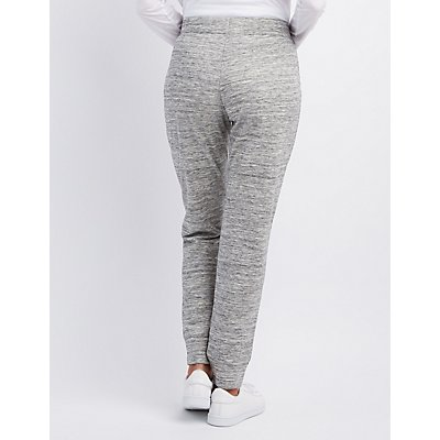 Patched Drawstring Jogger Pants