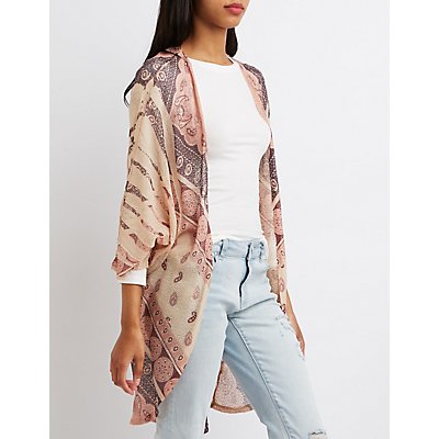 Printed Slouchy Cardigan