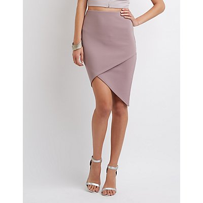 Envelope Hem Pencil Skirt