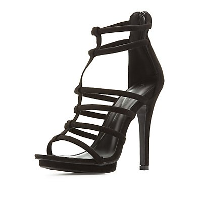 Tubular Platform Dress Sandals