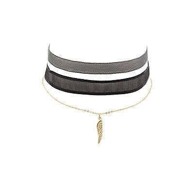 Mesh Choker Necklaces - 2 Pack