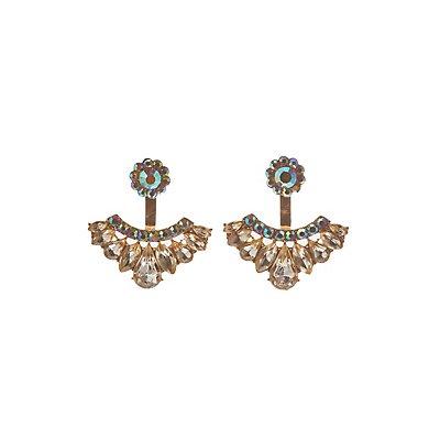 Iridescent Crystal Ear Jackets