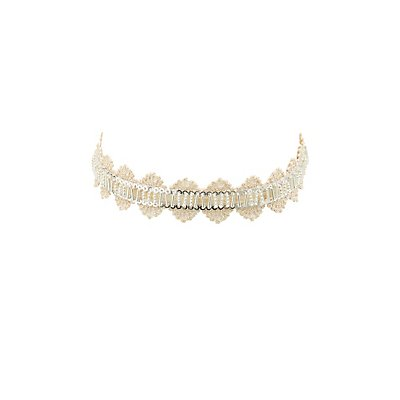 Beaded Lace Choker Necklace