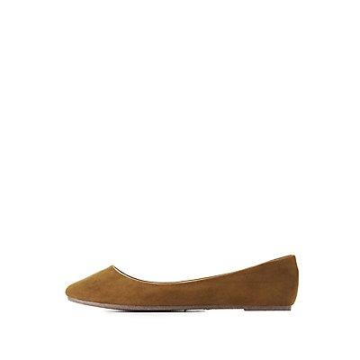 Bamboo Almond Toe Flats