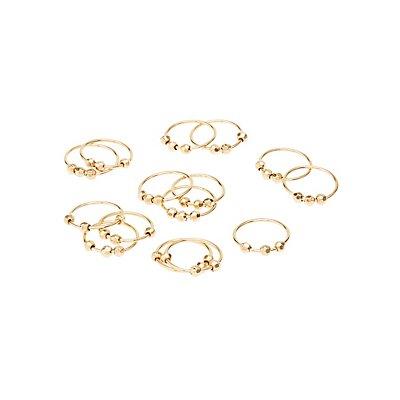 Beaded Rings & Midi Rings Set
