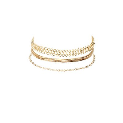 Chainlink Choker Necklaces - 3 Pack