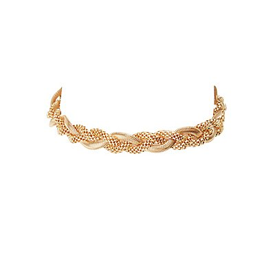 Braided Chainlink Choker Necklace