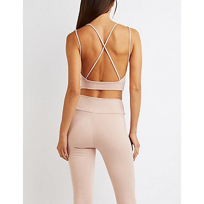 Strappy Open Back Crop Top