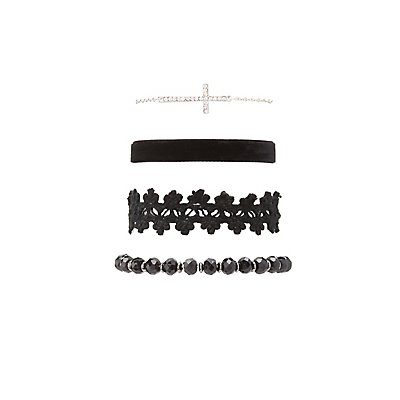 Beaded, Crochet & Embellished Bracelets - 4 Pack