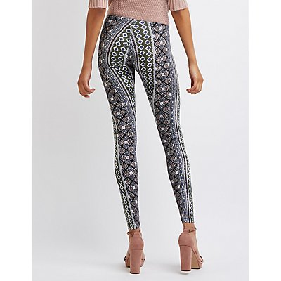 Printed Stretch Cotton Leggings