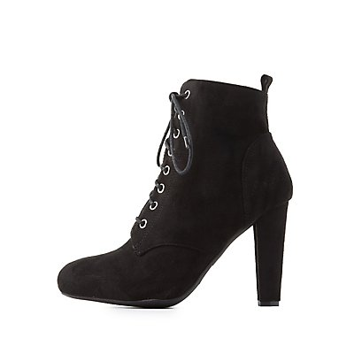Lace-Up Ankle Booties