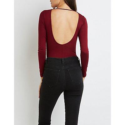 Cut-Out Open Back Bodysuit
