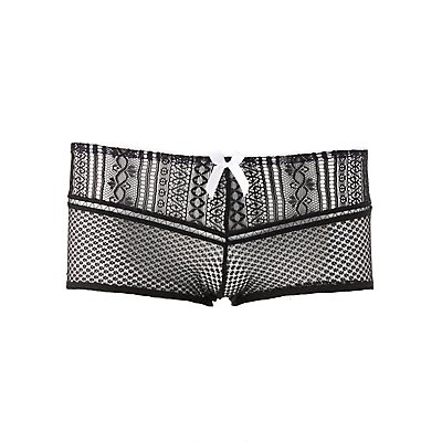 Plus Size Mesh Lace Boyshort Panties