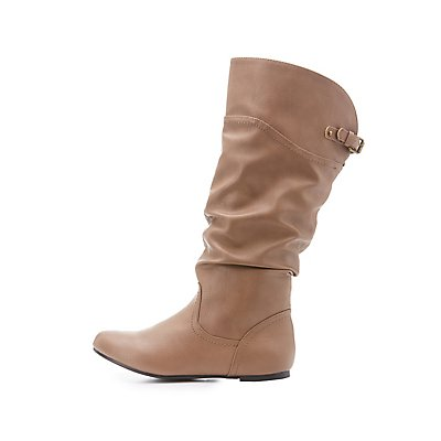 Slouchy Flat Knee-High Boots