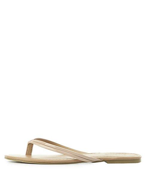 3863dfe7f9cf Patent Thong Sandals
