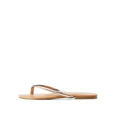 Textured Thong Sandals