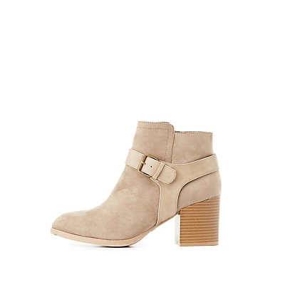 Qupid Harness Pointed Toe Ankle Booties