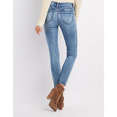 Refuge Push Up Legging Lifting Destroyed Skinny Jeans