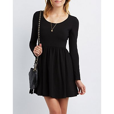 Open Back Skater Dress