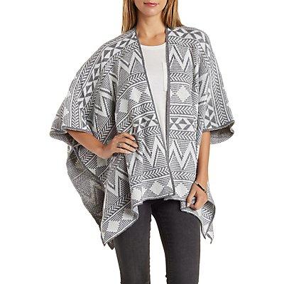 Aztec Poncho Sweater