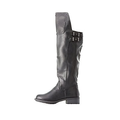 Qupid Quilted Tall Boots