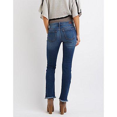 Sneak Peek Frayed Hem Destroyed Boyfriend Jeans