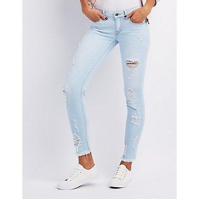 Sneak Peek Destroyed Skinny Jeans
