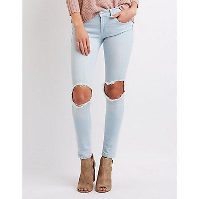 Sneak Peek Ripped Knee Skinny Jeans