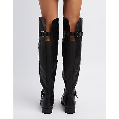 Gored Over-The-Knee Boots
