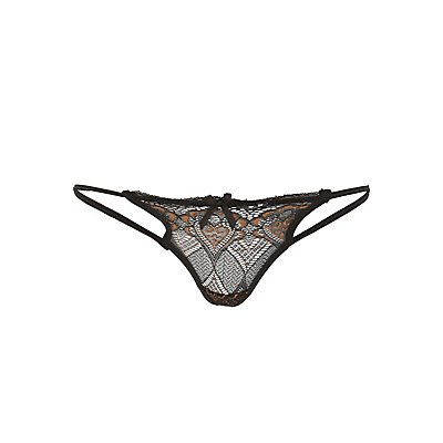 Lace Caged G-String Panties