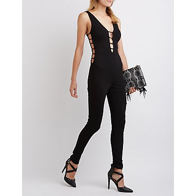 Caged Plunging Jumpsuit