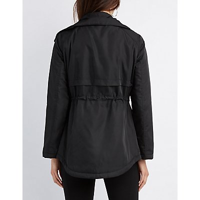 Padded Drawstring Anorak Jacket