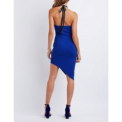 Embellished Asymmetrical Bodycon Dress