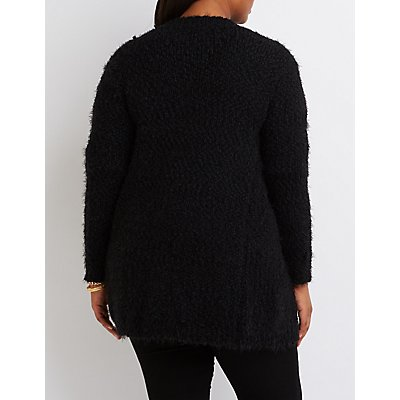 Plus Size Fuzzy Oversized Cardigan