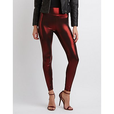 Metallic Liquid Leggings