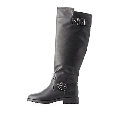 Buckled Riding Boots