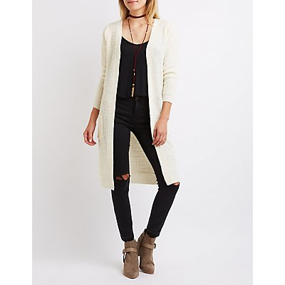 Waffle Knit Duster Cardigan