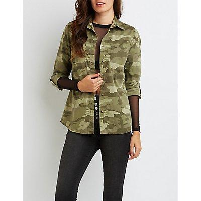 Camo Button-Up Shirt