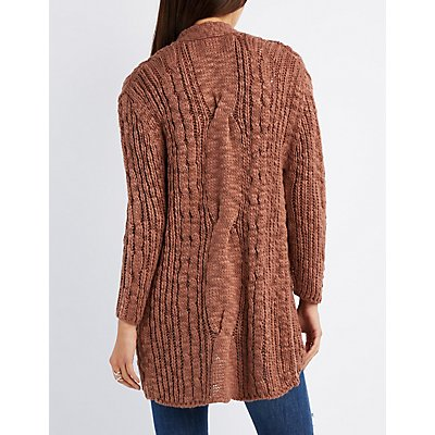 Chunky Knit Button-Up Cardigan