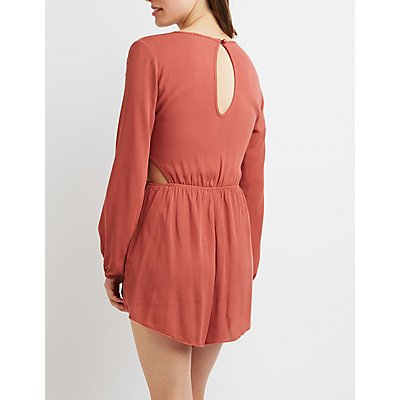 Surplice Cut-Out Romper
