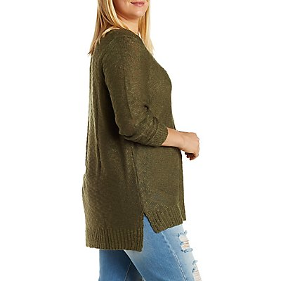 Plus Size V-Neck Pullover Sweater