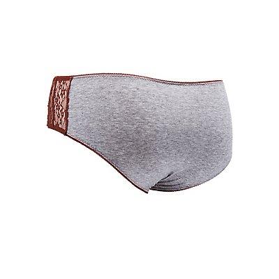 Plus Size Lace-Trim Hipster Panties